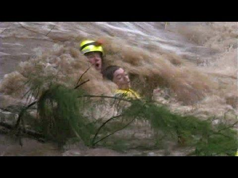 Amazing - Rescuing A Teen From Floodwaters