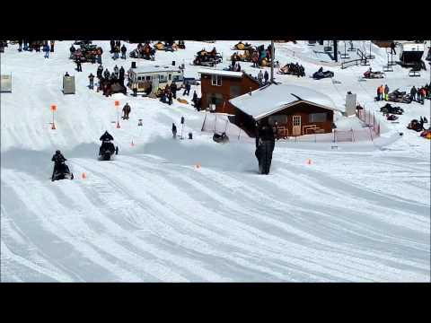 Snowmobile Drag Race Fail
