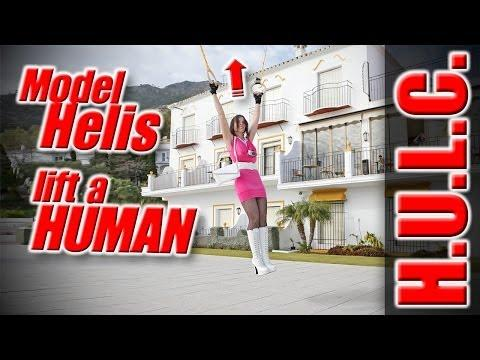 RC Helicopter Takes Woman For A Flight