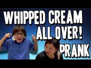Whipped Cream Comes Out Of Kid's Ear Prank