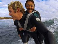 Guy Makes Woman's Surfing Dream Come True
