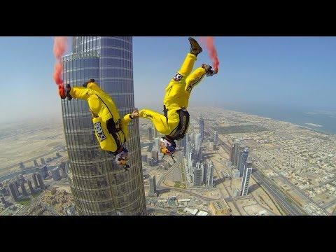Base Jumping From Burj Khalifa