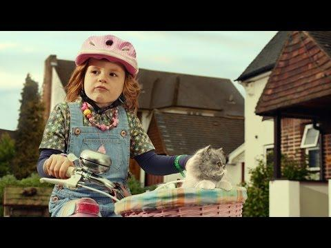 Cute Ad With A Cat And Little Girl Lip Syncing Starship's We Built This City Song