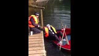 Grandpa Trying To Get On The Boat FAIL
