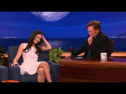 Emmy Rossum Sings For A Hot Dog On Conan