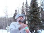 Blowing Frozen Bubbles In Manitoba Canada