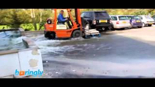 Fish Pond Gets Destroyed By Forklift Driver FAIL