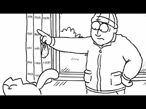 Simon's Cat - Cat Cleans The Window
