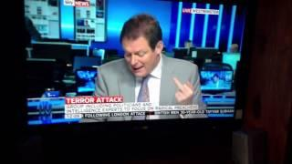 Sky News Reporter Shows The Middle Finger FAIL