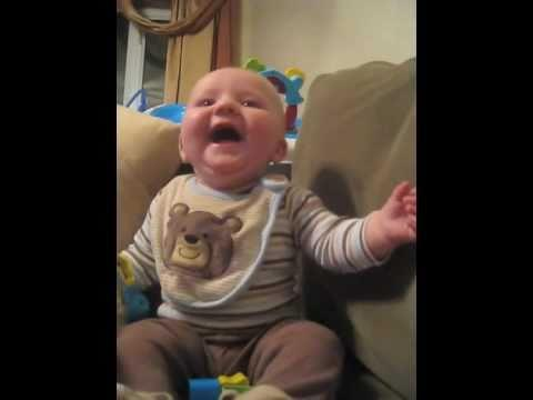Cute - Sneezing Dad Makes Baby Boy Laugh