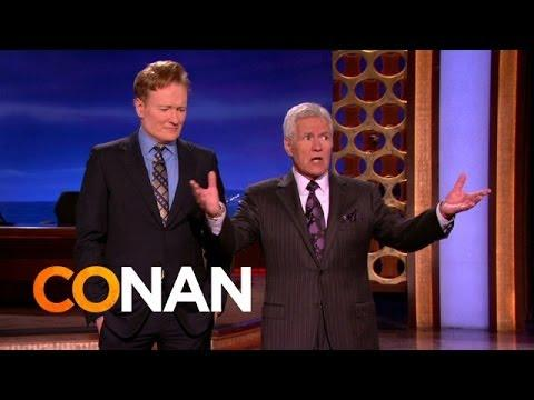 Alex Trebek Makes Fun Of Conan O'Brien