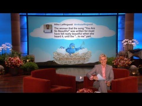 Ellen - I'll Just Yell My Phone Number Funny Tweet