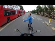 Funny English Motorcyclist Vs Jaywalking Pedestrian