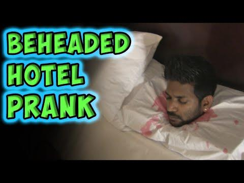 Decapitated Head In The Hotel Room Scare Prank