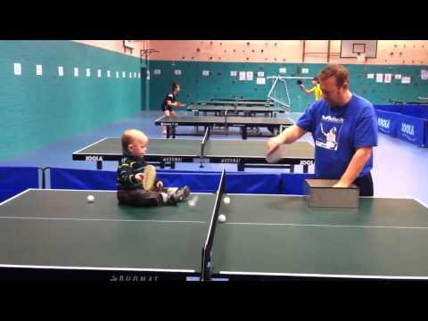 Cute - Baby Boy Plays Table Tennis