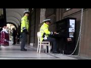 Police Officer From Prague Plays Yiruma's River Flows In You