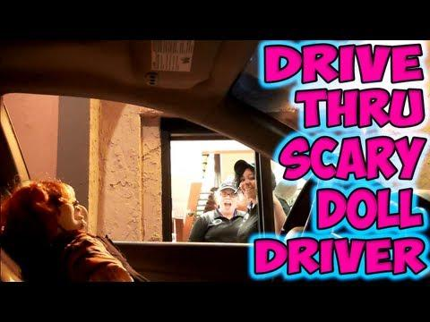 Pranks - Scary Doll Car Driver At Drive-Thru Prank