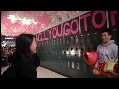 Cute - High School 1,500 Balloons Prom Proposal