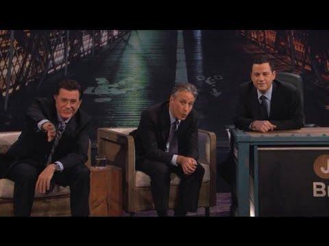 Jimmy Kimmel - Jon Stewart And Stephen Colbert Visit Jimmy - Part 3
