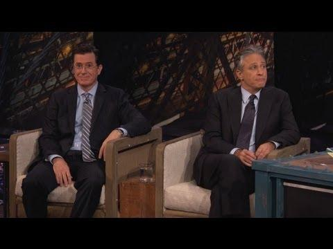 Jimmy Kimmel - Jon Stewart And Stephen Colbert Visit Jimmy - Part 1