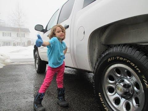 Little Girl Gives Tips On How To Get Into The Pickup Truck
