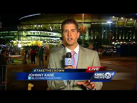 KMBC Reporter Johnny Kane Gets Scared By Kansas City Royals Fan