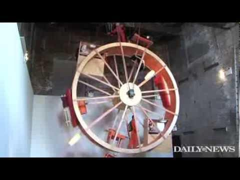 Artists Ward Shelley And Alex Schweder Live In A Huge Hamster Wheel