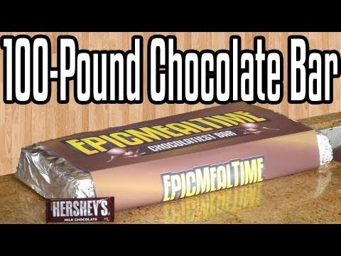 Awesome - Epic Meal Time Makes The Biggest Chocolate Bar