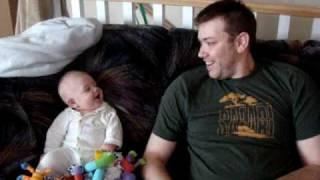 Baby And Daddy Laughing Competition