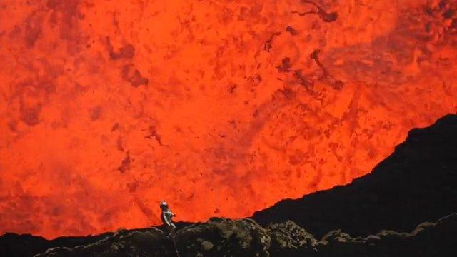 What It's Like To Stand Beside The Active Volcano