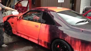 Color Changing Car Paint On Nissan Skyline