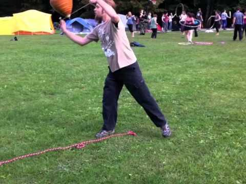 Awesome - Guy Plays With Giant Spinning Top
