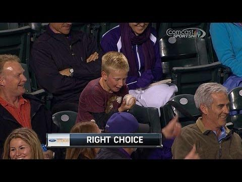 Kid Is Speechless After Getting The Foul Ball