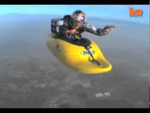 Awesome - Skydiving In A Kayak