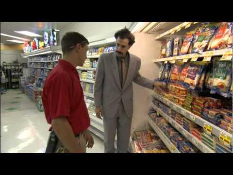 Curious Borat Asks About Cheese