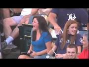 Funny Girl Gets Excited After Getting Hit By Ichiro Suzuki