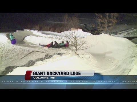 Cool Family From Minnesota Who Has A Giant Luge Track