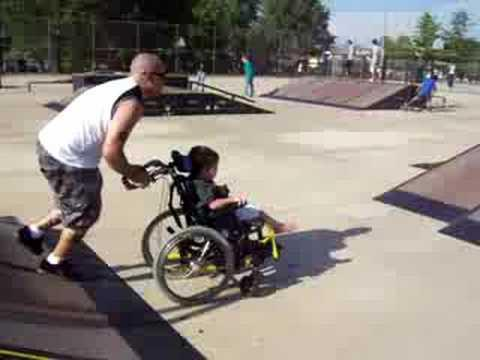 Cute - Dad With His Kid At Skate Park