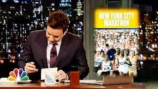 Jimmy Fallon Thanks New York City For NYC Marathon