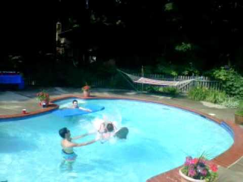WIN - Back Flip Onto Pool Chair