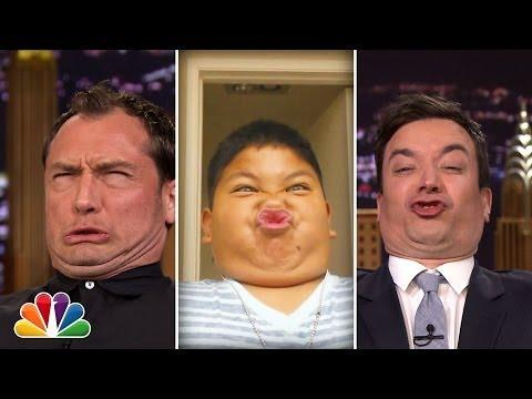 Jude Law And Jimmy Fallon Make Funny Faces