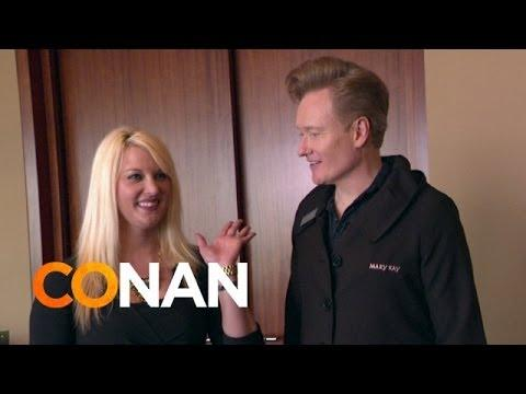 Conan O'Brien Visits The Mary Kay Makeup Company Headquarters