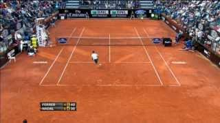 David Ferrer's Awesome Tennis Play Against Rafael Nadal