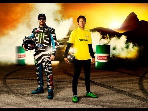 Soccer Player Neymar Jr Vs Racer Ken Block
