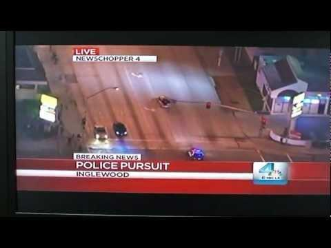Crazy - Inglewood Police Chase Gets Real Close
