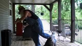 Guy Dances With His Pet Raccoon