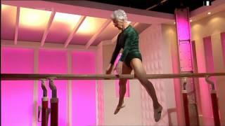 86 Year Old Woman's Gymnastic Performance