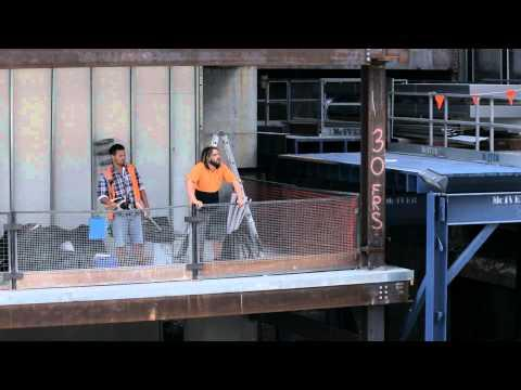 Construction Workers Yelling Positive Statements To Women - Snickers