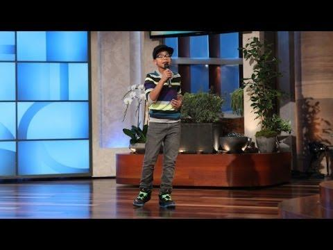 12 Years Old Jason Mraz Performs On Ellen