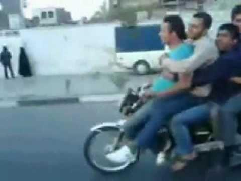 Crazy - How Many Guys Can Ride On One Motorcycle
